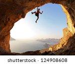 Rock Climber Sunset Kalymnos - Fine Art prints