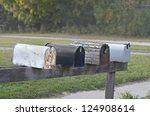 Rural Mailboxes In A Row