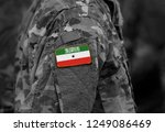 flag of somaliland on soldiers...   Shutterstock . vector #1249086469