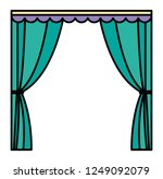 curtains icon image | Shutterstock .eps vector #1249092079