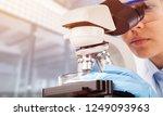 black woman scientist student... | Shutterstock . vector #1249093963