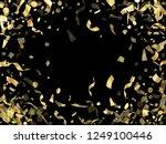 gold glitter realistic confetti ... | Shutterstock .eps vector #1249100446