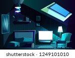 vector illustration of attic... | Shutterstock .eps vector #1249101010