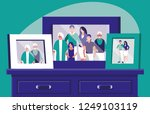 portrait with family members... | Shutterstock .eps vector #1249103119