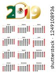 spanish calendar 2019 with... | Shutterstock .eps vector #1249108936