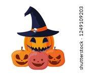 happy halloween celebration | Shutterstock .eps vector #1249109203