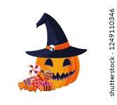 happy halloween celebration | Shutterstock .eps vector #1249110346