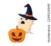 happy halloween celebration | Shutterstock .eps vector #1249110349