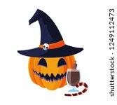 happy halloween celebration.... | Shutterstock .eps vector #1249112473