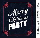 merry christmas card | Shutterstock .eps vector #1249113466