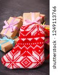 wrapped gifts with ribbons for... | Shutterstock . vector #1249113766