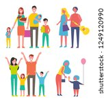 people families isolated icon... | Shutterstock .eps vector #1249120990