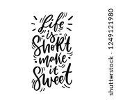 hand drawn lettering... | Shutterstock .eps vector #1249121980