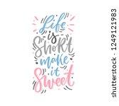 hand drawn lettering...   Shutterstock .eps vector #1249121983