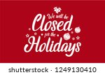 christmas  new year  we will be ... | Shutterstock .eps vector #1249130410