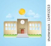 building icons  school  with... | Shutterstock .eps vector #124913213