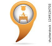 brazier and chicken icon.... | Shutterstock .eps vector #1249134703