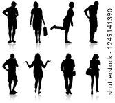 silhouette group of people... | Shutterstock . vector #1249141390