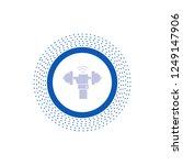 dumbbell  gain  lifting  power  ... | Shutterstock .eps vector #1249147906