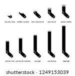types of socks set. no show ... | Shutterstock .eps vector #1249153039