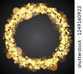 bright festive round frame of... | Shutterstock .eps vector #1249160923