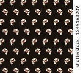 pug   emoji pattern 06 | Shutterstock . vector #1249163209