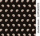 pug   emoji pattern 62 | Shutterstock . vector #1249163293