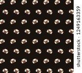 pug   emoji pattern 40 | Shutterstock . vector #1249163359