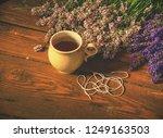 aroma designer  workplace. girl ... | Shutterstock . vector #1249163503
