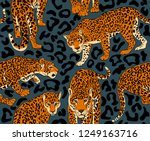 seamless pattern with a wild... | Shutterstock .eps vector #1249163716