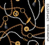 seamless pattern with chains ... | Shutterstock .eps vector #1249165723