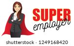 business woman with text super... | Shutterstock .eps vector #1249168420