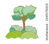 tree rural landscape in round... | Shutterstock .eps vector #1249170313