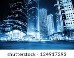 night scene of modern city | Shutterstock . vector #124917293