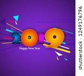 modern minimal abstract happy... | Shutterstock .eps vector #1249176796