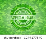 approachable green emblem with... | Shutterstock .eps vector #1249177540