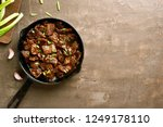 stewed beef in soy sauce with... | Shutterstock . vector #1249178110