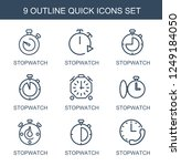 quick icons. set of 9 outline...   Shutterstock .eps vector #1249184050