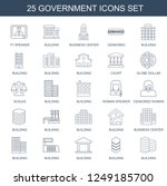 government icons. set of 25... | Shutterstock .eps vector #1249185700
