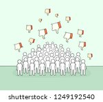 crowd of little people with... | Shutterstock .eps vector #1249192540