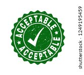 vector acceptable grunge stamp... | Shutterstock .eps vector #1249195459