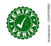 vector verify grunge stamp seal ... | Shutterstock .eps vector #1249195483
