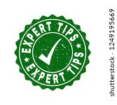 vector expert tips grunge stamp ... | Shutterstock .eps vector #1249195669