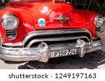 fancy old cars    havana  cuba. ... | Shutterstock . vector #1249197163