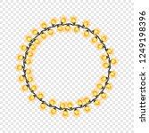 circular festive yellow glowing ...   Shutterstock .eps vector #1249198396