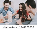 young smiling people have fun...   Shutterstock . vector #1249205296