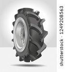 tractor wheel. tire  tyre ...   Shutterstock .eps vector #1249208563
