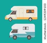 retro camper trailer collection.... | Shutterstock . vector #1249209103
