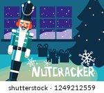 nutcracker soldier with tree... | Shutterstock .eps vector #1249212559