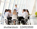 business people having board... | Shutterstock . vector #124923500